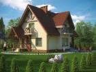 Проект элегантного просторного дома с мансардой