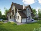 Проект просторного стильного дома с гаражом и мансардой